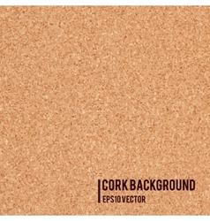 Realistic cork board texture vector