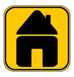 Home symbol button vector
