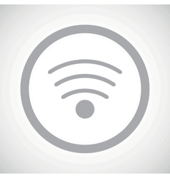 Grey wi-fi sign icon vector