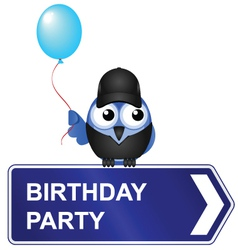 Birthday party sign vector