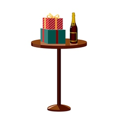The gifts on the table vector