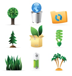 Icons for nature energy and ecology vector