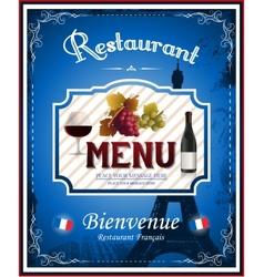 Vintage french restaurant menu and poster design vector