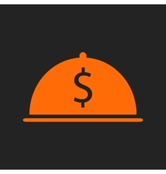 Orange restaurant business icon vector