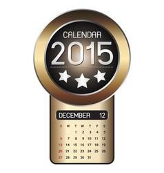 December calendar 2015 fiber background vector