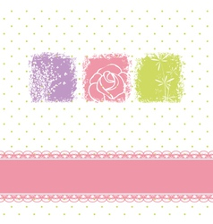 Greeting card with rose flower vector