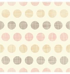 Vintage textile polka dots seamless pattern vector