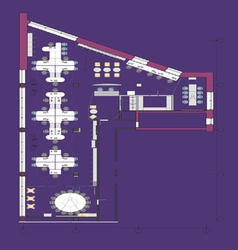 Planning office vector