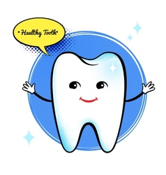Healthy tooth character vector