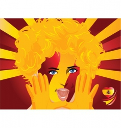 Crowd goes wild spain vector