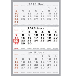 2015 june with red dating mark vector