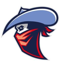 Cowboy bandit mascot vector