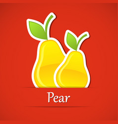 Fruit label pear vector