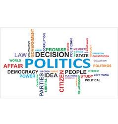 Word cloud politics vector