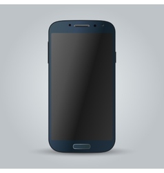 Realistic blue mobile phone image vector