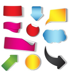 Sticker and tag collection vector