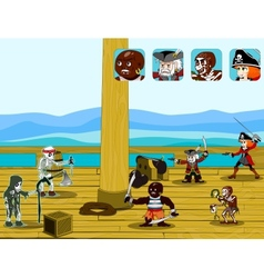 Pirate game concept vector