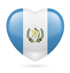 Heart icon of guatemala vector