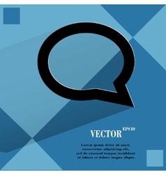 Cloud thoughts flat modern web design on a flat vector