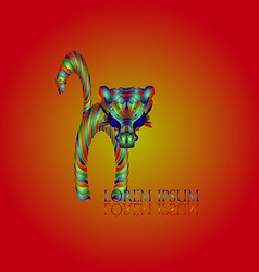 Cat red logo vector