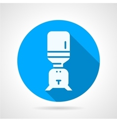 Purifier water blue round icon vector