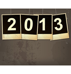New year 2013 grunge background vector