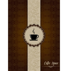 Coffe house menu design with floral patterns vector
