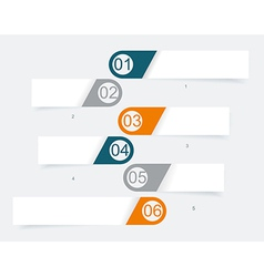 Steps lines progress banners with colorful tags vector