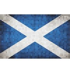 Flag of scotland vector
