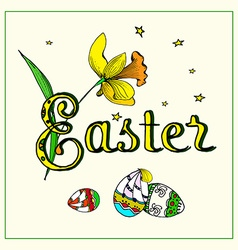 Easter typography vector