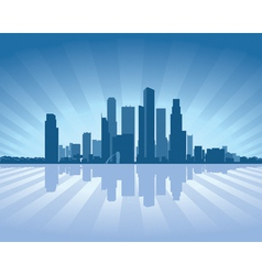 Singapore skyline vector