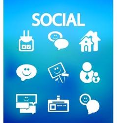 Social internet icons vector