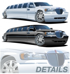 Cartoon limousines vector