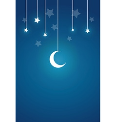 Present card in night theme vector
