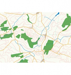 Countryside map vector