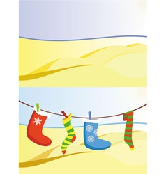 Christmas in desert vector