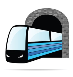 Train from the tunnel vector