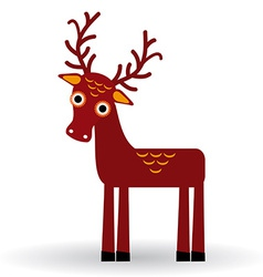 Funny deer on a white background vector