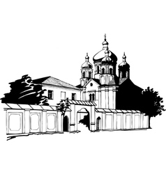 Orthodox church vector