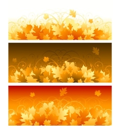 Decorative swirling autumn design vector