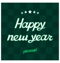 Happy new year card hand lettering vector