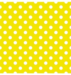 Tile pattern white polka dots yellow background vector