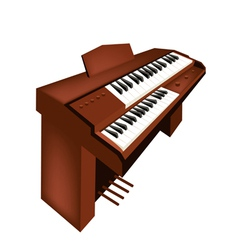 A retro pipe organ isolated on white background vector