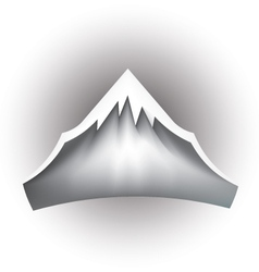 Mountain peak logo vector
