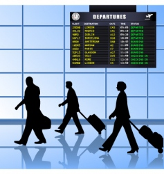Airport set 1 passengers departing vector