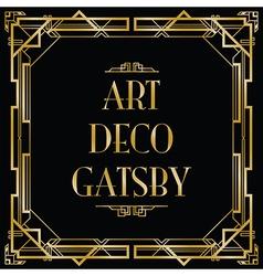 Art deco gatsby square vector