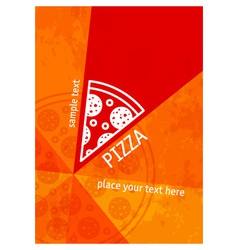 Pizza background vector