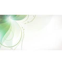 Abstract green flower vector