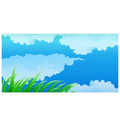Close-up of clouds in blue sky vector