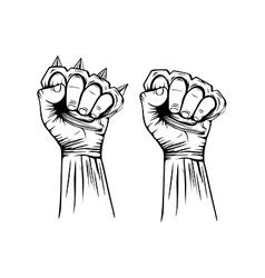 Brass knuckles vector